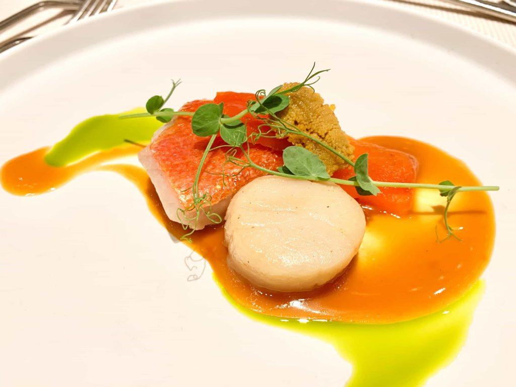 赤坂プリンスクラシックハウスの披露宴魚料理