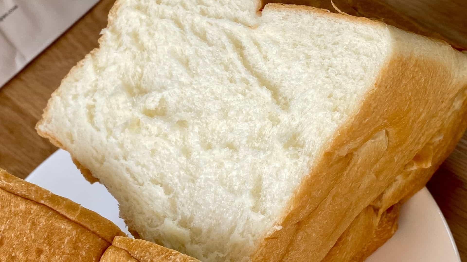 乃が美の高級生食パンの断面